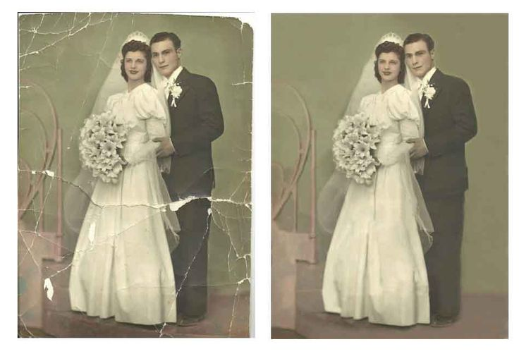 Fixing Photos offers many other photo retouching services, we can colorize a B image, add, change or remove a background or object, collage masterpieces, repair that old faded picture, or enhance a photograph and make it the way it was meant to be.