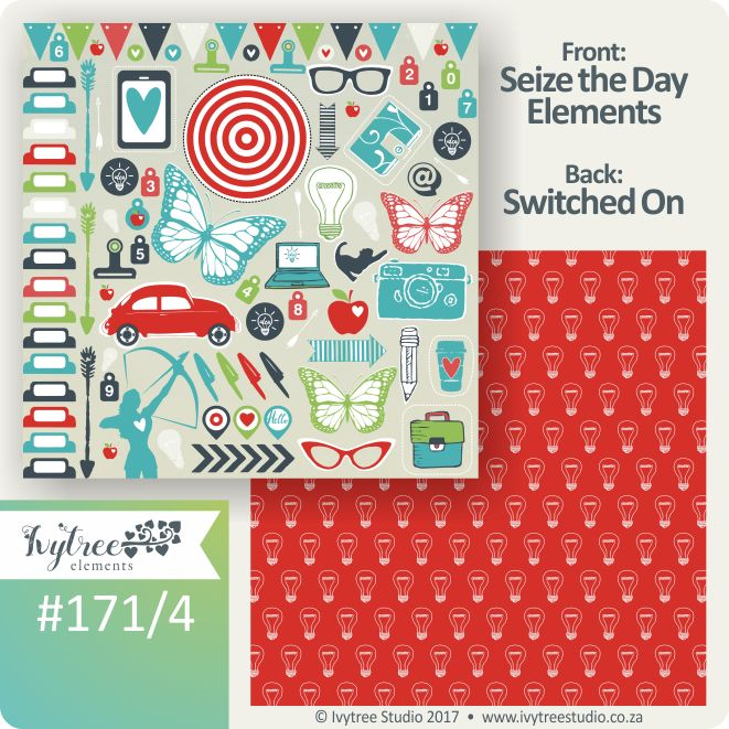 171 Seize the Day Collection - Ivytree Studio - Element pages bring a variety of goodies to be cut and used in your layouts. www.ivytree.eshop.co.za