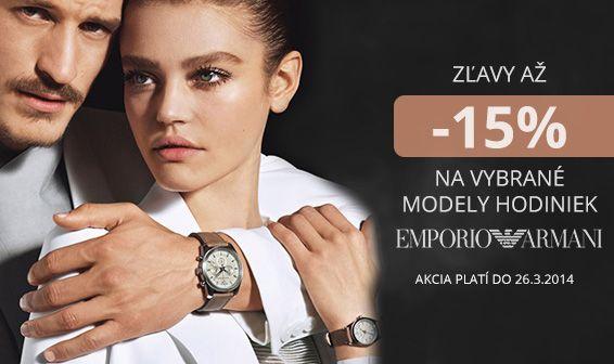 Emporio Armani - 15%  Akcia beží na hodinky. http://www.1010.sk/c/hodinky-emporio-armani/?orderby=price&filter_akcia=466