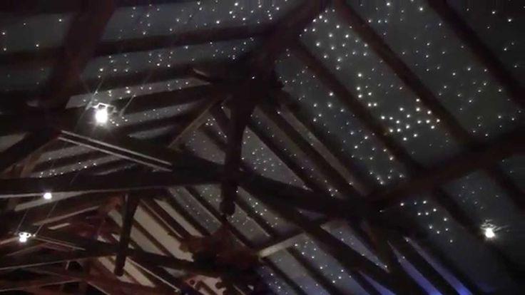 Gwiezdne niebo w restauracji - sufity podświetlane - sufity podwieszane