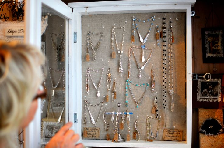 """From Blå Dörren """"The Blue Door"""" you can find beautiful pieces of local made silver jewellery. Shop owner Soili Peiponen welcomes you everyday with a big smile. www.visitporvoo.fi"""