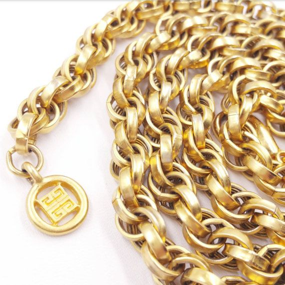 Check out this item in my Etsy shop https://www.etsy.com/listing/515144933/vintage-signed-givenchy-thick-gold-chain