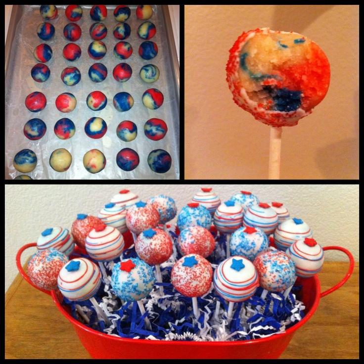 4th of July Cake Pops from Mindy's Cake Pops in Stockton, California #stocktonsummer