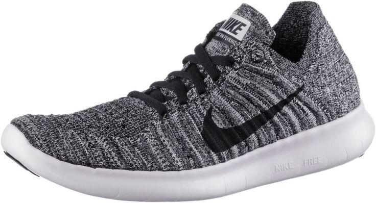 #Nike #Free #Run #Flyknit #Laufschuhe #Damen #weiß/schwarz