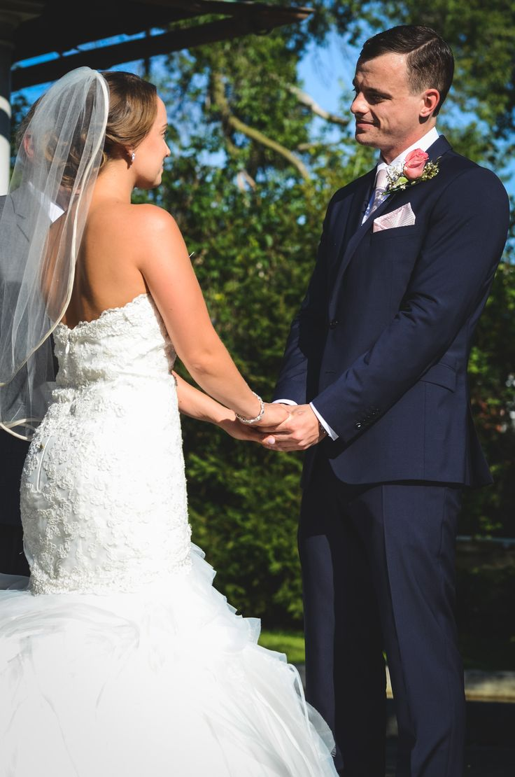 Bride and Groom holding hands in the summer   Parkwood Estate, Oshawa   Toronto Wedding Photographer Pedram Navid