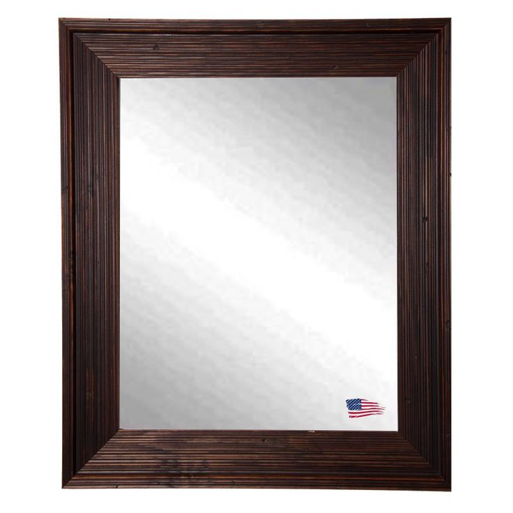 Rayne Mirrors Rustic Brown Wall Mirror - V0017