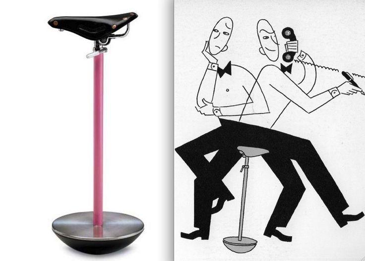 Achille Castiglioni, Sella telephone stool, 1957, for Zanotta ...