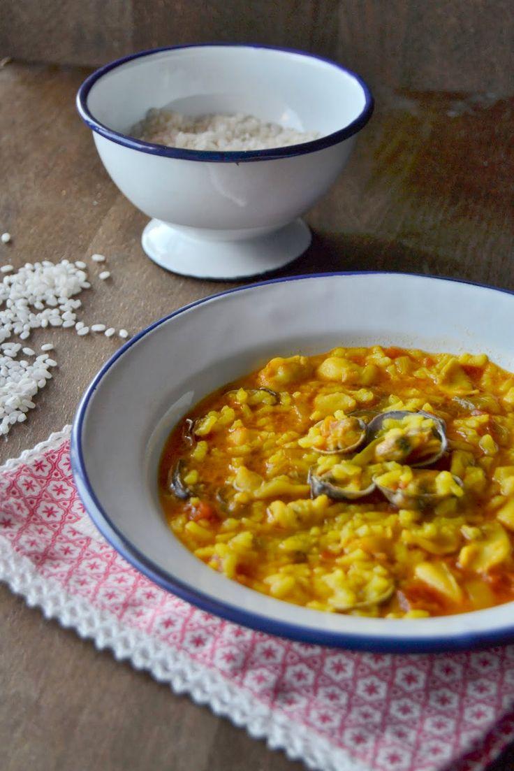La rosa dulce: ARROZ CALDOSO CON ALMEJAS http://larosadulce.blogspot.com.es/2014/05/arroz-caldoso-con-almejas.html