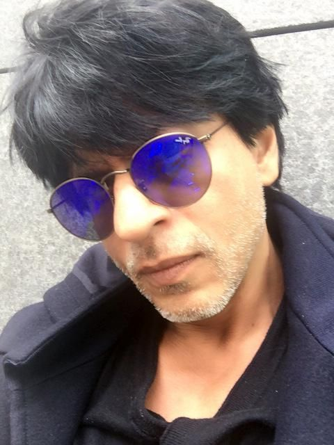 "Check out Shah Rukh Khan's selfie he posted while shooting for ""Dilwale."""