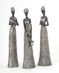 African Ladies Figurine's in 3 Styles