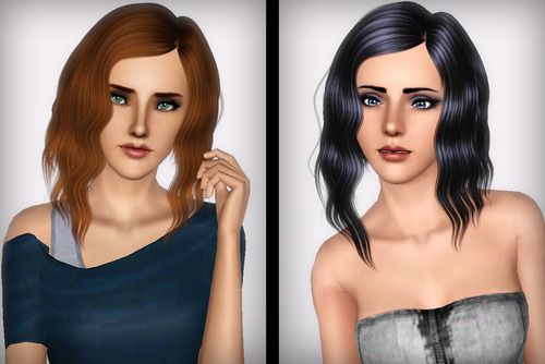 Big waves hairstyle Alesso`s retextured by Forever and Always for Sims 3 - Sims Hairs - http://simshairs.com/big-waves-hairstyle-alessos-retextured-forever-always/