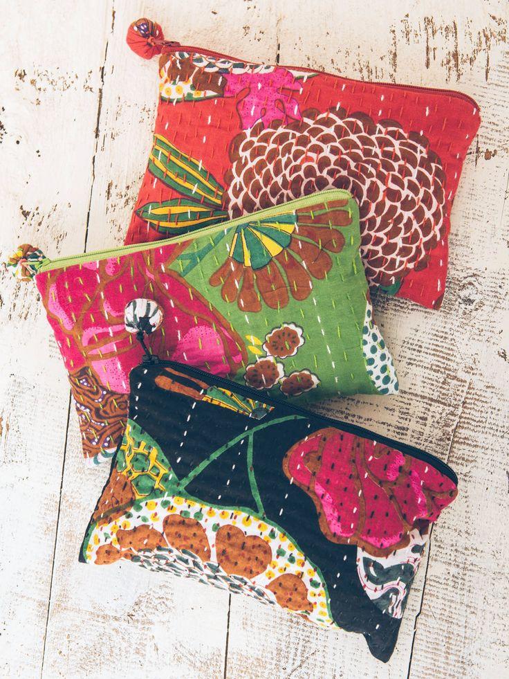 Kantha Cosmetic Bag