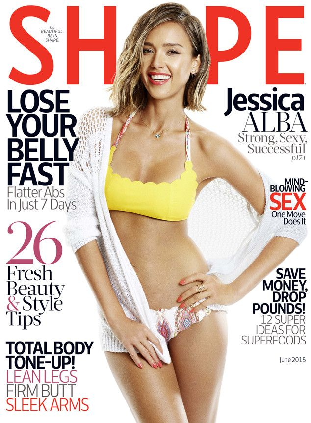 Jessica Alba Flaunts Fit Bikini Bod for Shape but Admits ''Working Out Sucks'': Find Out Her Fitness Routine!  Jessica Alba, Shape Magazine