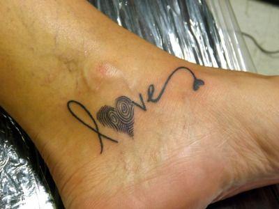 fingerprint tattoo | Tumblr