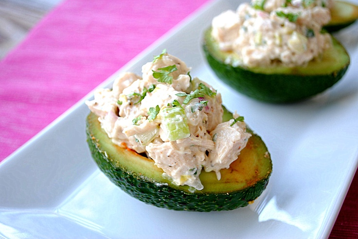 avacado: Low Cal, Yummy Recipes, Chicken Salads, Avacado Yum, Delicious Chicken, Fresh Herbs, Dinners, Avacado Chicken, Chicken Salad Recipes