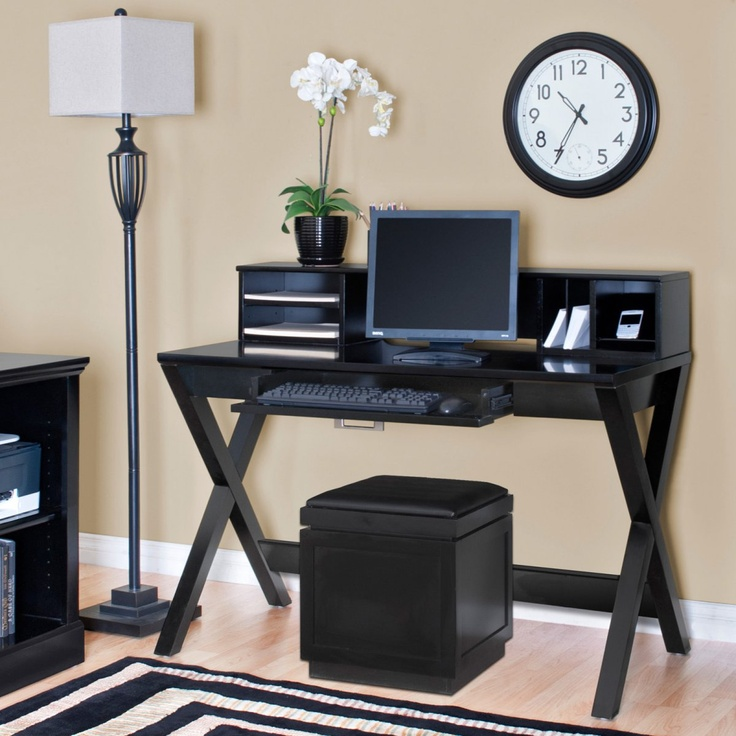 kathy ireland Home by Martin WorX Onyx Office Collection Laptop Writing Desk