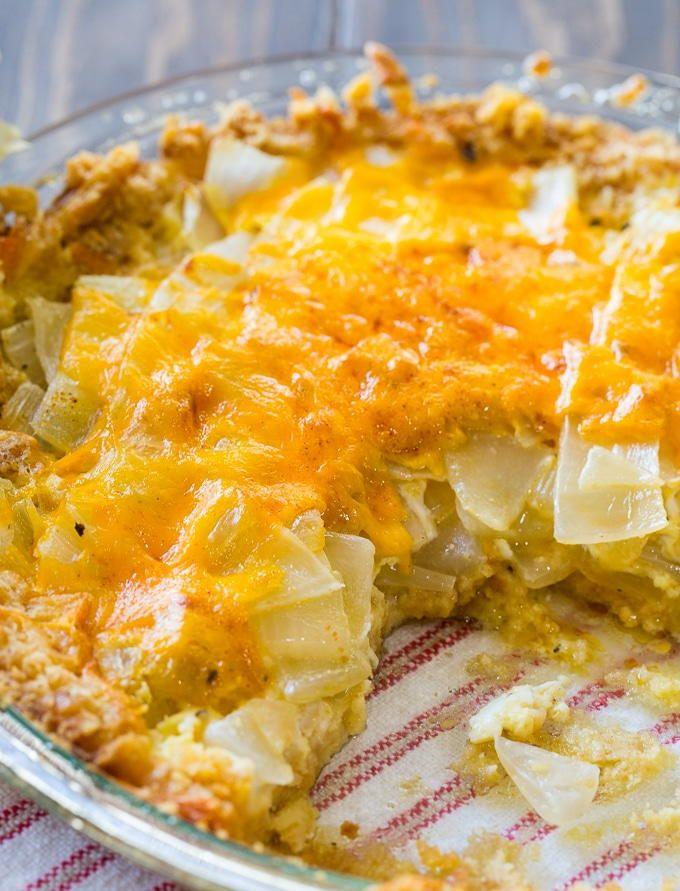 Southern Vidalia Onion Casserole | A uniquely delicious side dish recipe!