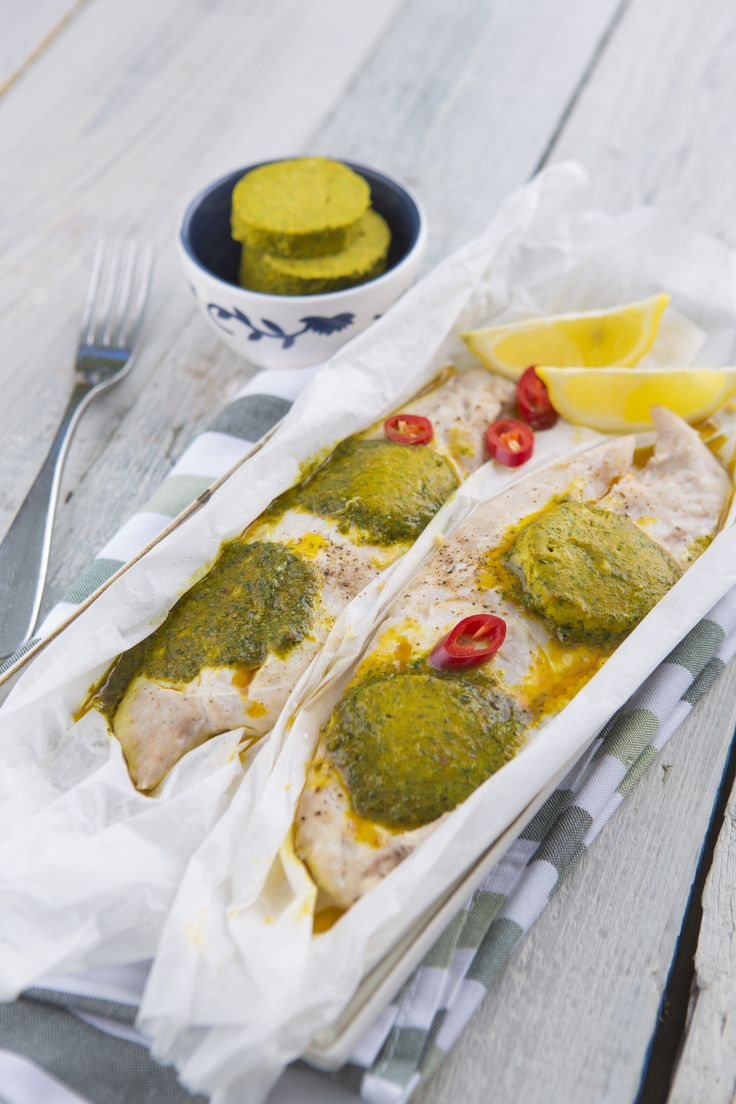 Steamed Thai fish fillet with Corainder butter (I think!!) #teninaholder #cookingwithtenina #thermomix #seafood