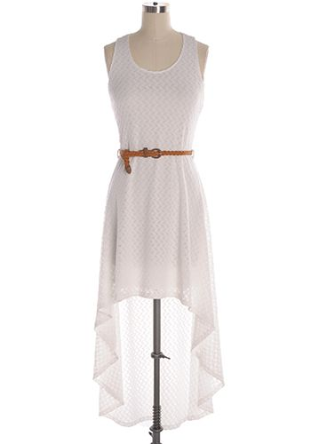 Hit up the summer in style in this white knitted dress. Hi-low dress with racerback and removable braided tan belt. 70% cotton, 30% rayon Stretchy Lined Indie, Retro, Party, Vintage, Plus Size, Convertible, Cocktail Dresses in Canada NEW: Truly Jasmine Dress -