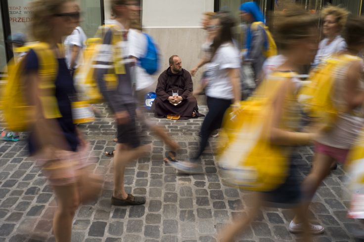 Pilgrims in Cracow during World Youth Days. 26th of July 2016, Cracow, Poland Photo by Wojciech Grzedzinski 0048 602358885 wojciech.grzedzinski@gmail.com wojciechgrzedzinski.com