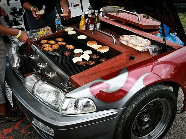 Turning An Old Car Into A Grill Is The Gearhead's Ultimate Summer BBQ