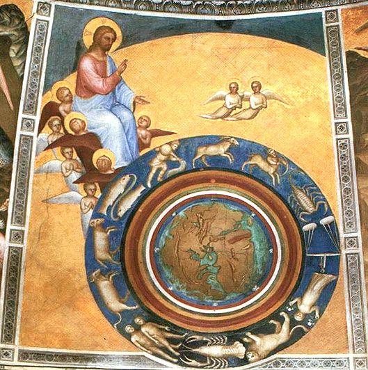 The Creation of the World. Giusto de' Menabuoi, c1376. Baptistery of the Duomo, Padua, Italy.