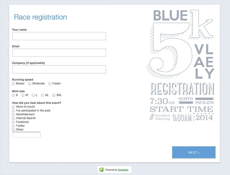 20 best Online Form Templates \ Form Design images on Pinterest - Event Registration Form Template Word
