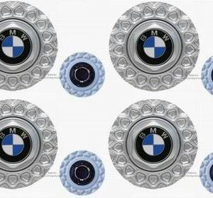 """""""BMW Genuine BBS 15″"""" Wheel Center Hub Cap for E30 3 Series From 1983 to 1991 Set of 4 Caps"""""""