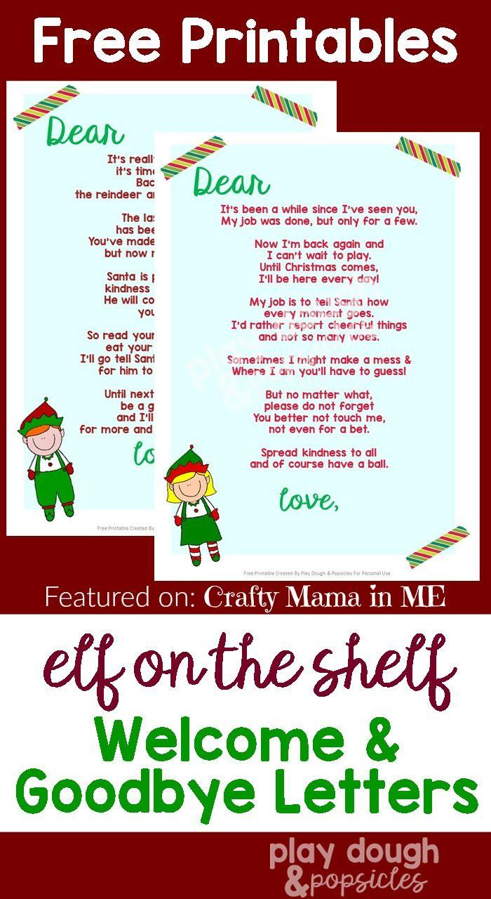 Elf On The Shelf Letters Free Printables Elf On Shelf
