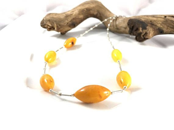Amber and silver neckleace, Amber neckless, amber silver neckleace, amber jewelry,amber bead neckleace, modern amber neckleace/ modern amber