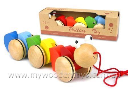 Caterpillar Wooden Pull A Long | My Wooden Toys