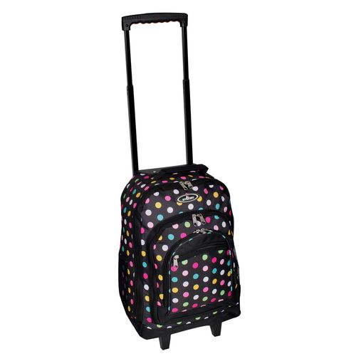 Everest Wheeled Backpack w/ Pattern Dimension13 x 18 x 7.5 in Polka Dot