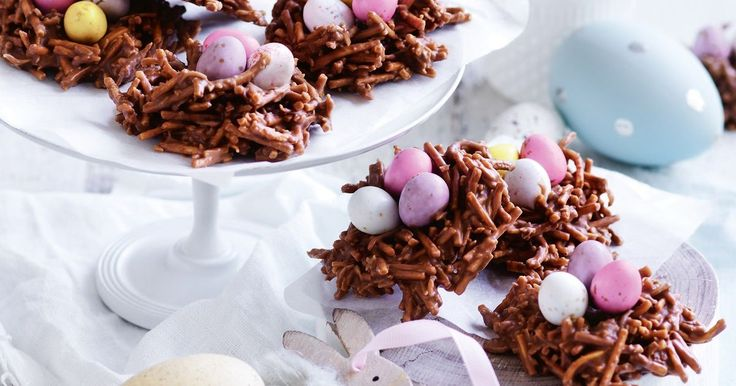 Get the kids excited about Easter with these fun chocolate and coconut nests.