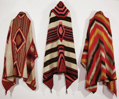 NAVAHO WEAVING. I love the colors and patterns of Navaho rugs and blankets. For my senior project in art school, I built a 6-foot Navaho loom, dyed my own yarn (with natural dyes as close to the ones used by the Navaho weavers as possible), designed a rug and started weaving it. I ran out of time so I never finished it (I still got an A!).