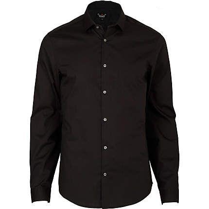 BLACK CHELSEA SHIRT Black long sleeve, button through chelsea shirt  £20.00