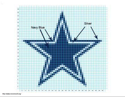 crochet dallas cowboys star