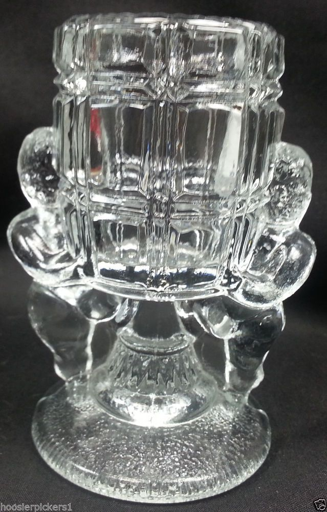 K A Boo Reproduction Clear Gl Stem Toothpick Holder