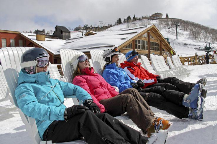 Living The Dream At Deer Valley Ski Resort UTAH  'The Beach' #skiutah #skideervalley #skiholiday