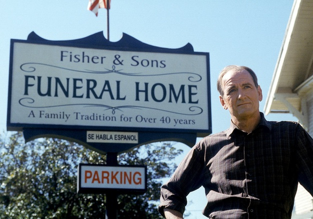 Six Feet Under. Aww. Love the dad. Richard Jenkins. Amazing. Best ghost dad ever. HBO
