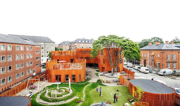 Детский город-сад в Копенгагене: вертикаль – основа архитектурной концепции | ADMagazine