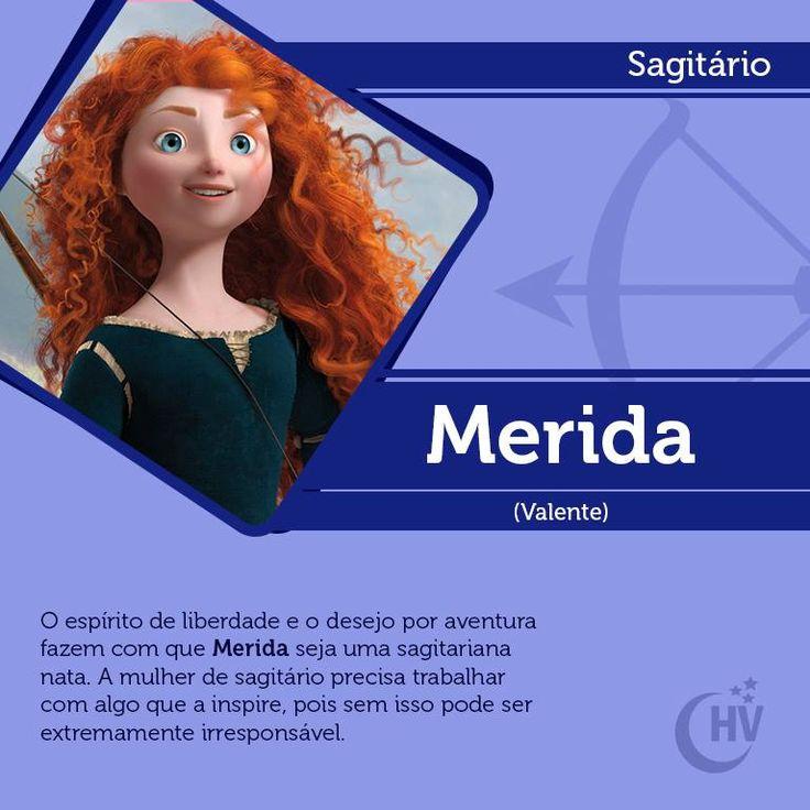 Princesa de Sagitário. #horóscopovirtual #princesas #signos #Merida #Valente #sagitário