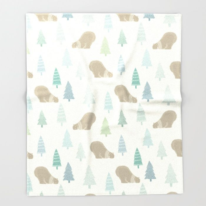 Polar bear - pattern II Throw Blanket