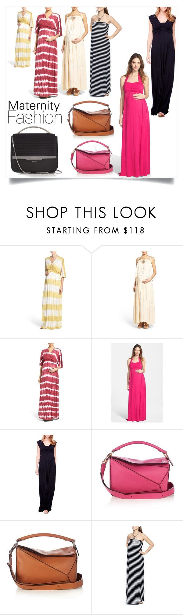"""Maternity Fashion - Maxi Dresses"" by bonnielindsay on Polyvore featuring Fillyboo, Ingrid & Isabel, Loewe, Imanimo and Eddie Borgo"