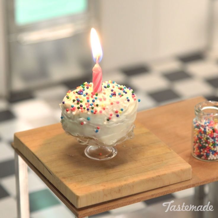 We would like to wish you the tiniest happy birthday! Just be careful when blowing out the candle.