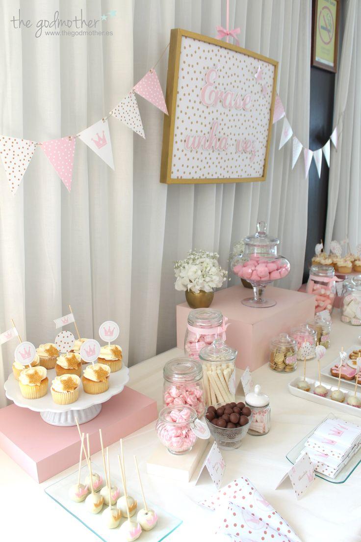 comunión princesas - comunión temática princesas - comunión de cuento - comunión rosa blaco y dorado - fiesta princesas - cumpleaños princesas - mesa dulce princesas 4