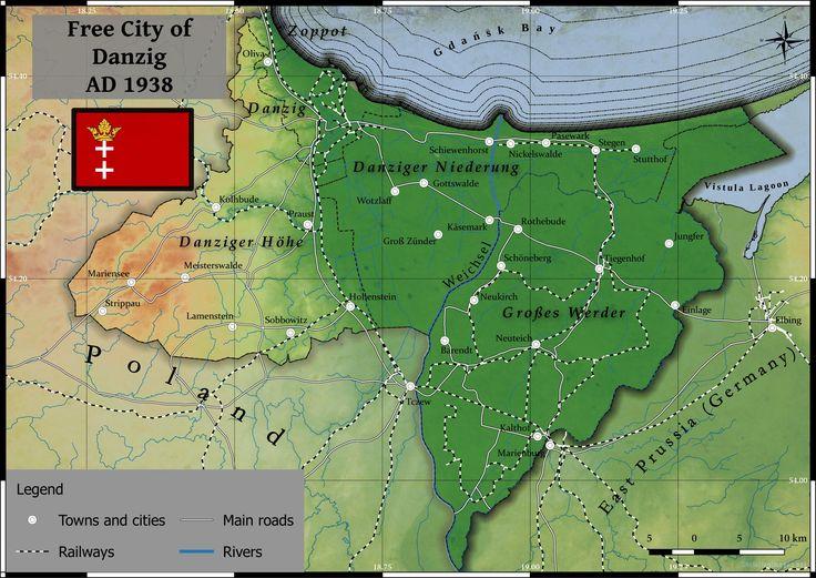 Free city of Danzig Map