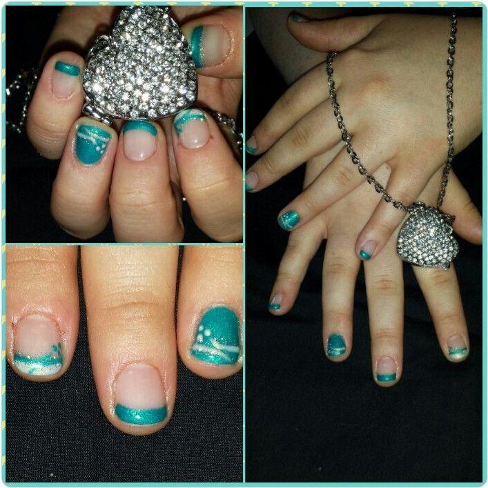 #nails #ongles #quebec #nailart #design #fashion #turquoise #white