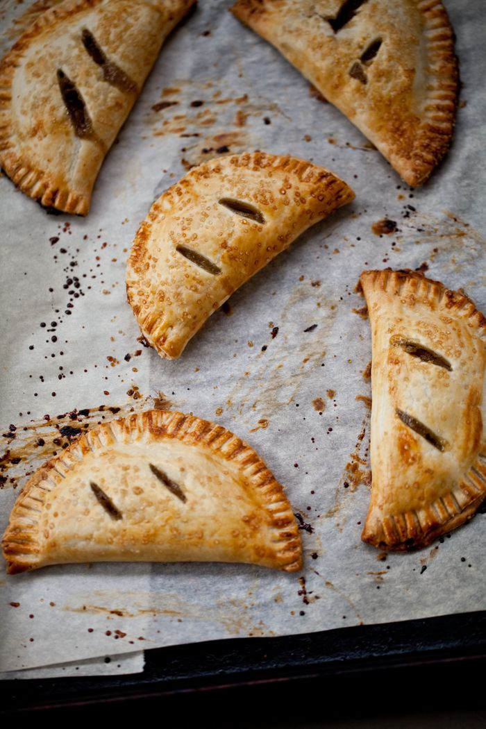 Spiced Pear Hand Pies - Vegan w/ Earth Balance and EVOO as pastry wash