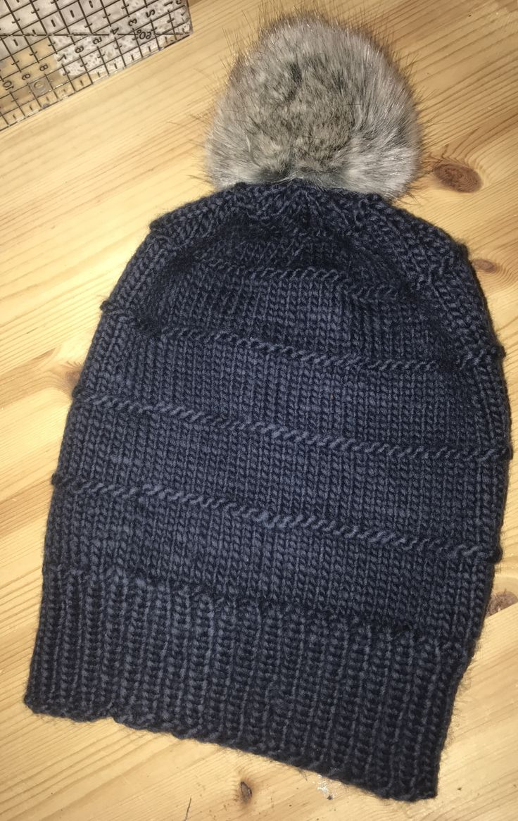 A new knitted hat for my youngest son.