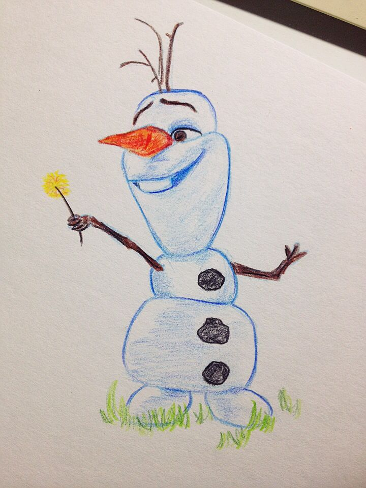 olaf frozen cute disney sketch drawing